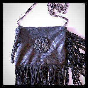 Handbags - Black Fringe Crossbody Bag